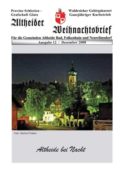 Aktuelles im Jahr 2008 zur Grafschaft Glatz