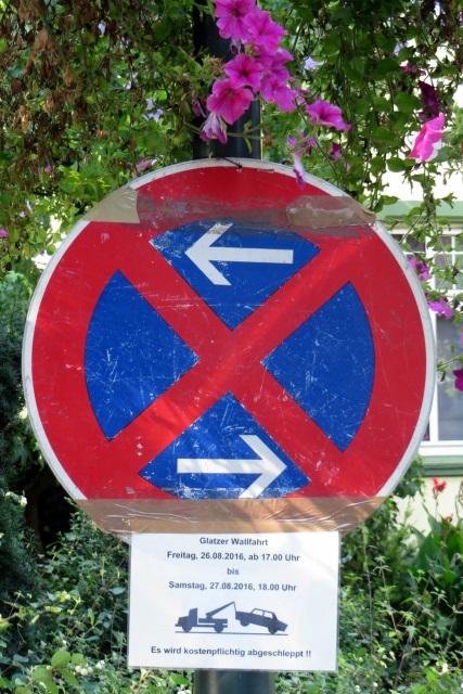 70. Glatzer Wallfahrt in Telgte 2016: Parkverbot für die Glatzer Wallfahrt